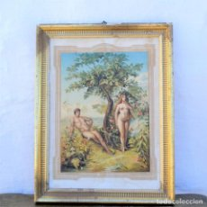 Arte: ANTIGUA LITOGRAFIA EDEN * PARAISO * ADAN Y EVA * VIUDA E HIJOS DE LABIELLE, BARCELONA. Lote 112607871