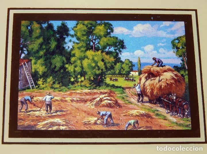 Arte: LOTE DE 4 PEQUEÑAS CROMOGRAFÍAS PAISAJES ENMARCADAS. MACO MADERA COLOR NOGAL 16,5x13,5 cm. - Foto 3 - 112983307