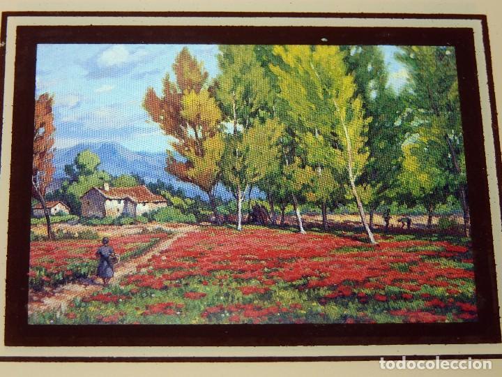 Arte: LOTE DE 4 PEQUEÑAS CROMOGRAFÍAS PAISAJES ENMARCADAS. MACO MADERA COLOR NOGAL 16,5x13,5 cm. - Foto 4 - 112983307