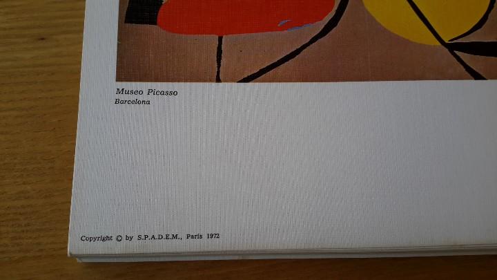 Arte: Picasso Lote de 35 láminas. Obras del Museo Picasso. SPADEM, París, 1972-1973 - Foto 9 - 113380891
