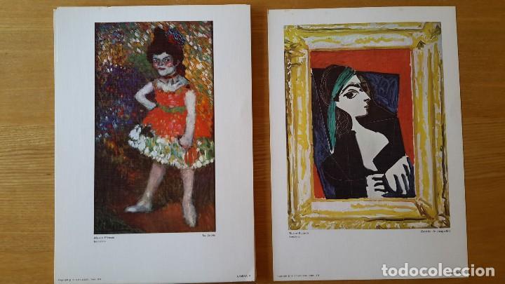 Arte: Picasso Lote de 35 láminas. Obras del Museo Picasso. SPADEM, París, 1972-1973 - Foto 3 - 113380891