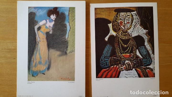 Arte: Picasso Lote de 35 láminas. Obras del Museo Picasso. SPADEM, París, 1972-1973 - Foto 4 - 113380891