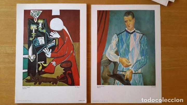 Arte: Picasso Lote de 35 láminas. Obras del Museo Picasso. SPADEM, París, 1972-1973 - Foto 5 - 113380891