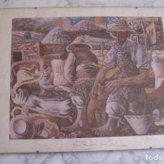 Arte: LÁMINA CAMPESINOS, COLECCIÓN MUSEO ZABALETA. 45 POR 34,5.. Lote 113431607