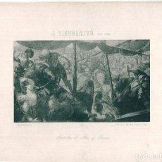 Arte: LÁMINA NÚMERO 410 HAUSER Y MENET AÑO 1894 CUADRO BATALLA DE MAR Y TIERRA PINTOR TINTORETTO. Lote 115402331