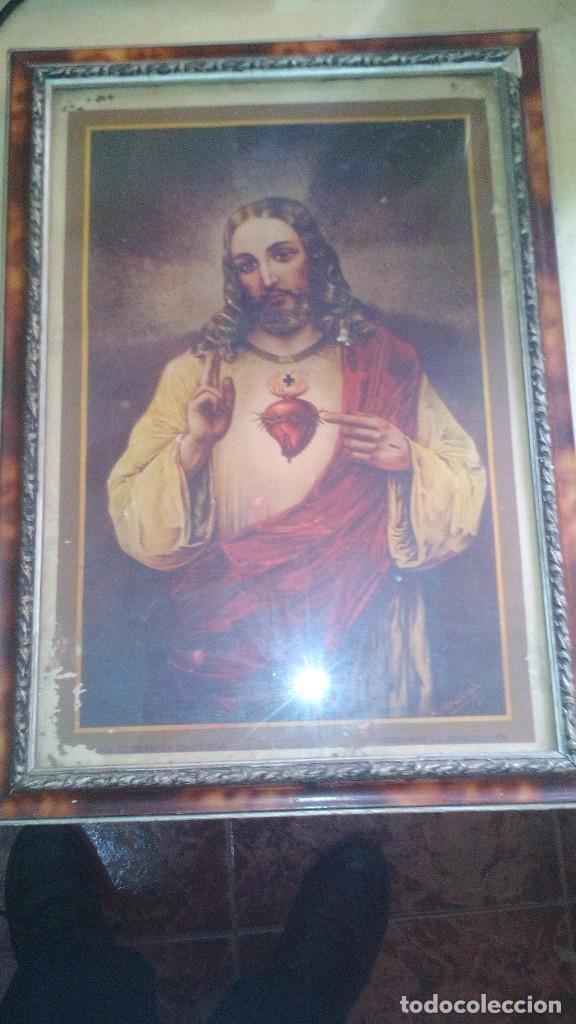 MARCO CON LAMINA RELIGIOSA (Arte - Láminas Antiguas)