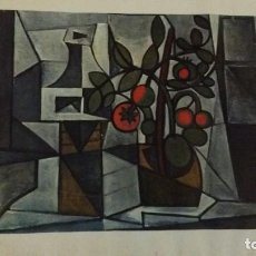 Arte: LAMINA PICASSO 1962 TOMATO PLANT AND DECANTER. Lote 116725523