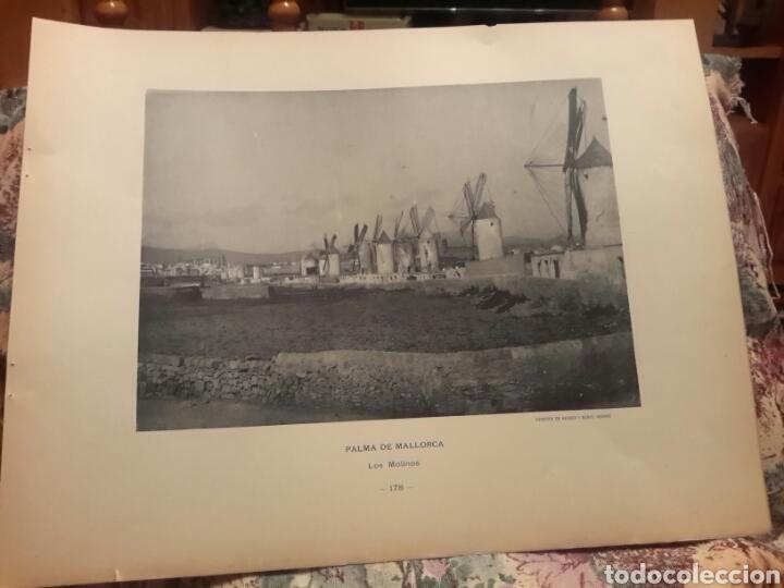PALMA DE MALLORCA, LOS MOLINOS FOTOTIPIA DE HAUSER Y MENET SIGLO XIX (Arte - Láminas Antiguas)