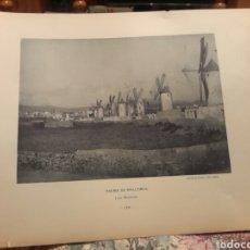 Arte: PALMA DE MALLORCA, LOS MOLINOS FOTOTIPIA DE HAUSER Y MENET SIGLO XIX. Lote 117074062