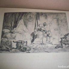 Arte: LAMINA ORIGINAL LE VERROU DE 1889. PARTE DE LA LA OBRA DE HONORÉ FRAGONARD. MEDIDA 28,5 X 20 CMS. Lote 117773003