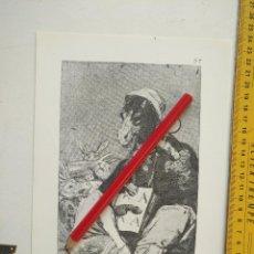 Arte: ANTIGUA LAMINA DEL PINTOR FRANCISCO DE GOYA Y LUCIENTES . Lote 118052275