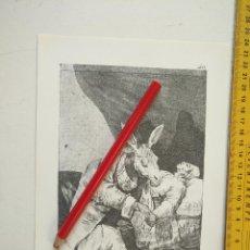 Arte: ANTIGUA LAMINA DEL PINTOR FRANCISCO DE GOYA Y LUCIENTES . Lote 118054119
