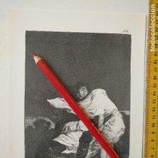 Arte: ANTIGUA LAMINA DEL PINTOR FRANCISCO DE GOYA Y LUCIENTES . Lote 118054267