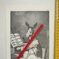 Arte: ANTIGUA LAMINA DEL PINTOR FRANCISCO DE GOYA Y LUCIENTES . Lote 118055611