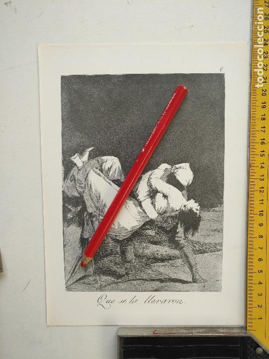 ANTIGUA LAMINA DEL PINTOR FRANCISCO DE GOYA Y LUCIENTES (Arte - Láminas Antiguas)