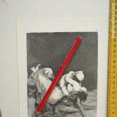 Arte: ANTIGUA LAMINA DEL PINTOR FRANCISCO DE GOYA Y LUCIENTES . Lote 118055851