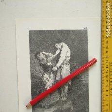 Arte: ANTIGUA LAMINA DEL PINTOR FRANCISCO DE GOYA Y LUCIENTES . Lote 118056387