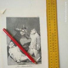 Arte: ANTIGUA LAMINA DEL PINTOR FRANCISCO DE GOYA Y LUCIENTES . Lote 118056435