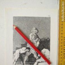 Arte: ANTIGUA LAMINA DEL PINTOR FRANCISCO DE GOYA Y LUCIENTES . Lote 118056771