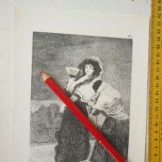 Arte: ANTIGUA LAMINA DEL PINTOR FRANCISCO DE GOYA Y LUCIENTES . Lote 118056867