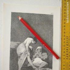 Arte: ANTIGUA LAMINA DEL PINTOR FRANCISCO DE GOYA Y LUCIENTES . Lote 118056927
