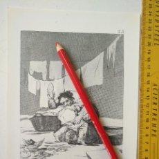 Arte: ANTIGUA LAMINA DEL PINTOR FRANCISCO DE GOYA Y LUCIENTES . Lote 118057091