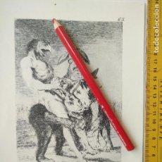 Arte: ANTIGUA LAMINA DEL PINTOR FRANCISCO DE GOYA Y LUCIENTES . Lote 118057463