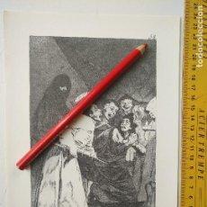 Arte: ANTIGUA LAMINA DEL PINTOR FRANCISCO DE GOYA Y LUCIENTES . Lote 118057627