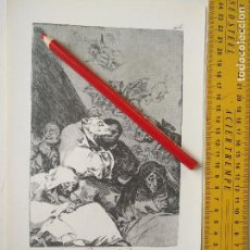 Arte: ANTIGUA LAMINA DEL PINTOR FRANCISCO DE GOYA Y LUCIENTES . Lote 118057947