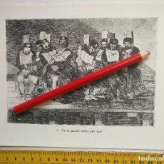 Arte: ANTIGUA LAMINA DEL PINTOR FRANCISCO DE GOYA Y LUCIENTES . Lote 118057991
