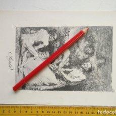 Arte: ANTIGUA LAMINA DEL PINTOR FRANCISCO DE GOYA Y LUCIENTES . Lote 118058107