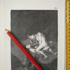 Arte: ANTIGUA LAMINA DEL PINTOR FRANCISCO DE GOYA Y LUCIENTES . Lote 118058187