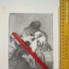 Arte: ANTIGUA LAMINA DEL PINTOR FRANCISCO DE GOYA Y LUCIENTES . Lote 118058207