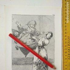 Arte: ANTIGUA LAMINA DEL PINTOR FRANCISCO DE GOYA Y LUCIENTES . Lote 118058299
