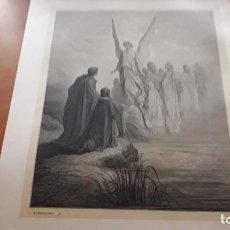 Arte: LÁMINA ORIGINAL DE GUSTAVE DORÉ EXTRAÍDA DEL LIBRO LA DIVINA COMEDIA TOMO 2 EL PURGATORIO 4. 1872. Lote 118369147