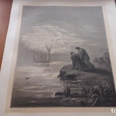 Arte: LÁMINA ORIGINAL DE GUSTAVE DORÉ EXTRAÍDA DEL LIBRO LA DIVINA COMEDIA TOMO 2 EL PURGATORIO 3. 1872. Lote 118369347