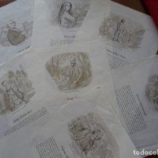 Arte: LAMINAS DE PINTORES INGLESES EN PAPEL TRANSPARENTE, 12, 45 X 30 CM APROX. Lote 120230343
