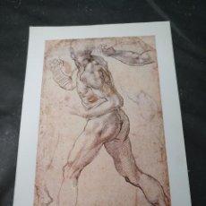 Arte: LAMINA REPRODUCCION DE DIBUJO DE MIGUEL ANGEL. Lote 120765091