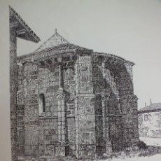 Arte: LAMINA IGLESIA VILLAVEGA DE AGUILAR PALENCIA MONTAÑA PALENTINA ROMÁNICO 1. Lote 120948387