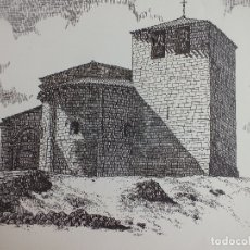 Arte: LAMINA IGLESIA DE VALORIA DEL ALCOR PALENCIA ROMÁNICO MONTAÑA PALENTINA 2. Lote 120948811