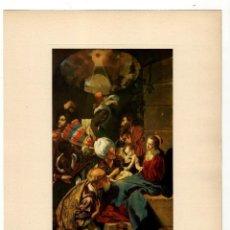 Arte: IMPRESIÓN VINTAGE - ADORACIÓN REYES MAGOS - JUAN BAUTISTA MAINO - PINTURA ESPAÑOLA. Lote 121118819