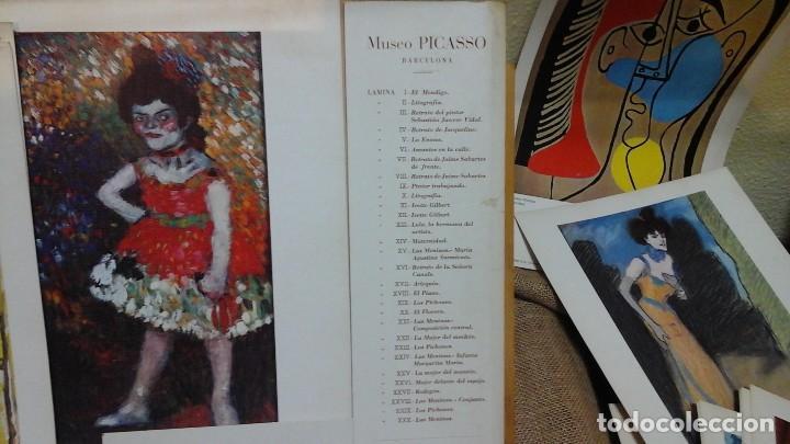 MUSEO PICASSO .COLECCIÓN DE LÁMINAS 1975 .TREINTA Y TRES LÁMINAS EN PAPEL-CARTÓN (Arte - Láminas Antiguas)
