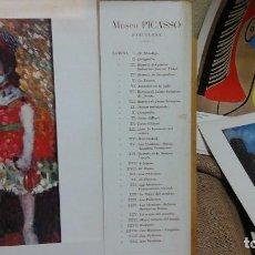 Arte: MUSEO PICASSO .COLECCIÓN DE LÁMINAS 1975 .TREINTA Y TRES LÁMINAS EN PAPEL-CARTÓN . Lote 121190907