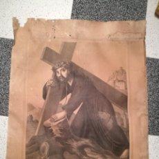 Arte: LÁMINA DEL CRISTO DEL PAÑO. MOCLÍN. AÑO 1883. Lote 121240947