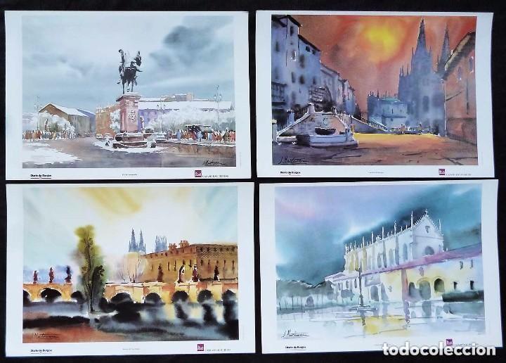 Arte: CARPETA COMPLETA CON 10 LAMINAS DE VISTAS DE BURGOS.PINTOR BURGALES: J. MARTICORENA. AÑO: 1997. - Foto 2 - 122204667