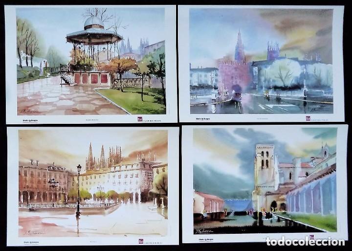 Arte: CARPETA COMPLETA CON 10 LAMINAS DE VISTAS DE BURGOS.PINTOR BURGALES: J. MARTICORENA. AÑO: 1997. - Foto 3 - 122204667