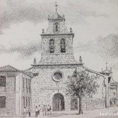 Arte: LÁMINA IGLESIA DE SANTA MARINA PALENCIA 9. Lote 122707407