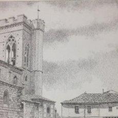 Arte: LÁMINA IGLESIA DE SAN MIGUEL PALENCIA 11. Lote 122708111