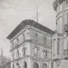 Arte: LÁMINA EDIFICIO DE CORREOS PALENCIA 15. Lote 122711059
