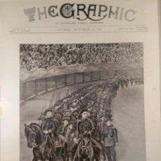 Arte: SAN SEBASTIÁN 1894 REVISTA EN LA PLAZA DE TOROS. Lote 123316806